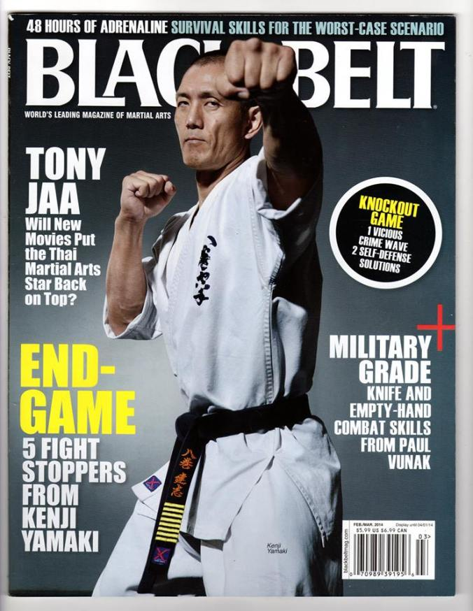 New  cover of Feb/Mar 2014 of Black Belt Magazine.